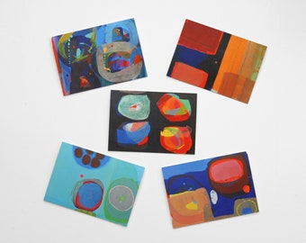 Abstract Art Greetings Cards Pack of Five