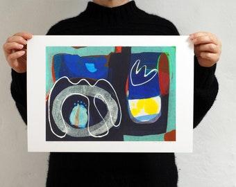 Modern Abstract Art Print 'Storm Garden'