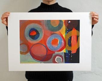 Colorful Abstract Circles Print 'Buoys'