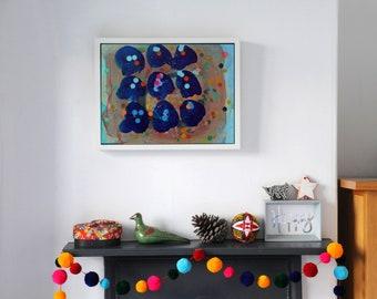 Living Room Art Original Abstract Painting 'Shells'