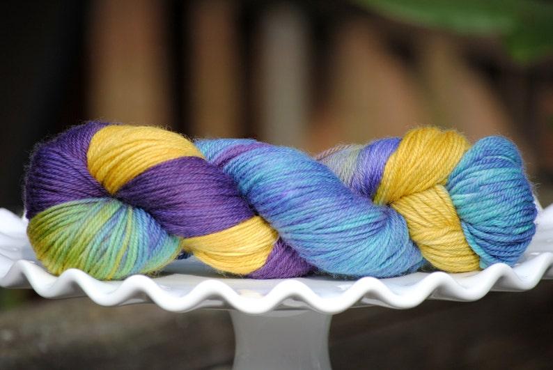 Lavender Fields  Hand Painted Merino Yarn  Superwash  DK  image 0