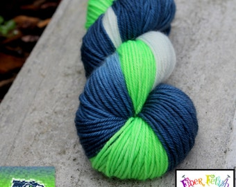 HAWKS! - Hand Painted Merino Yarn - Superwash - DK - Sport or Bulky