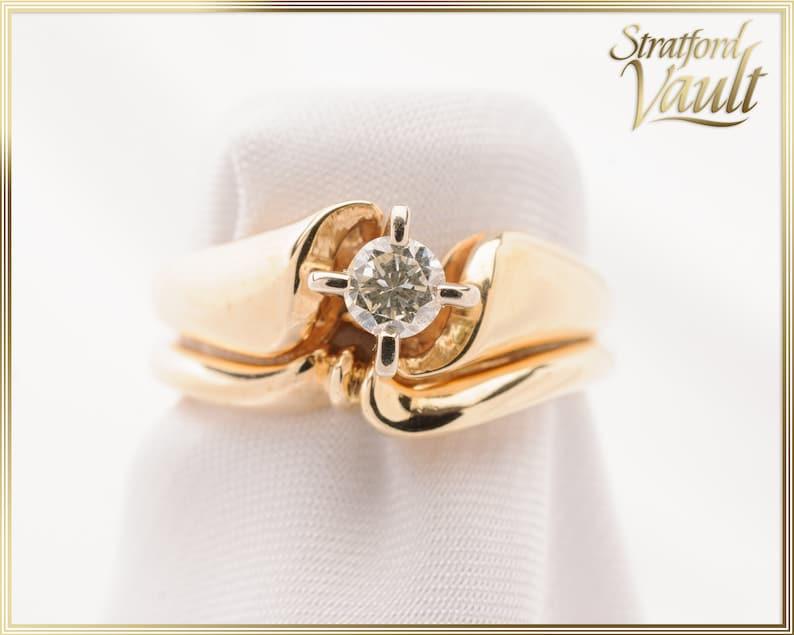 Diamond Engagement Solitaire Set  14K Yellow Gold Setting  image 0