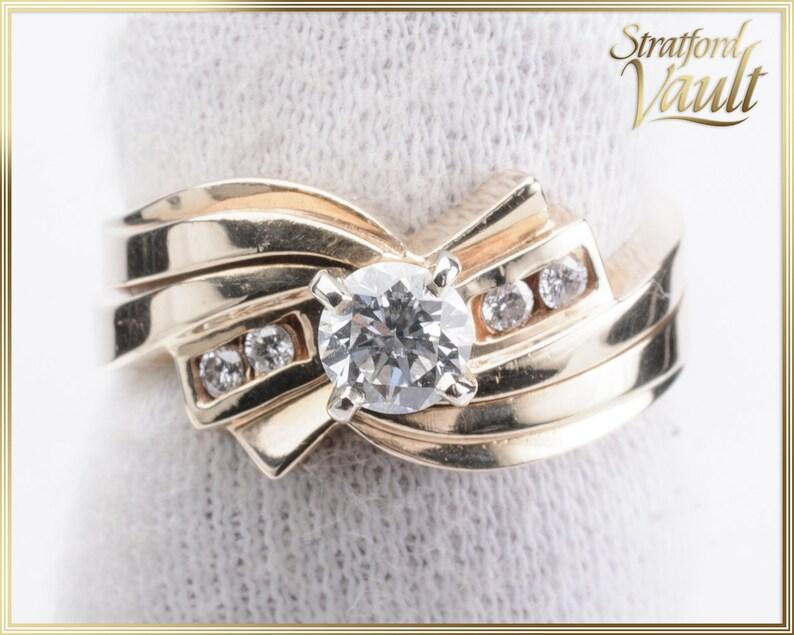 Ladies Diamond Engagement Ring  0.40ct Genuine Brilliant Cut image 0