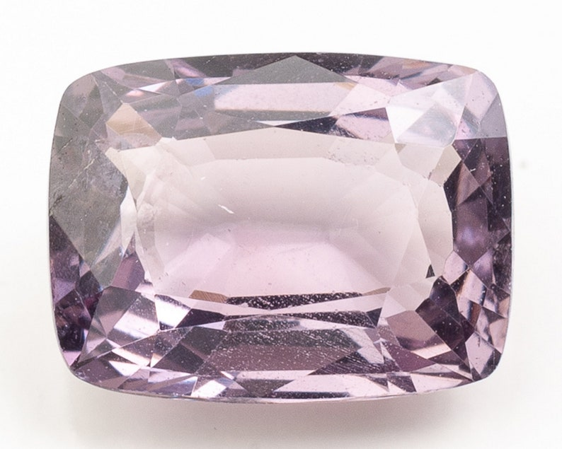 Emerald Modified Brilliant Cut Medium Slightly Pink Purple image 0