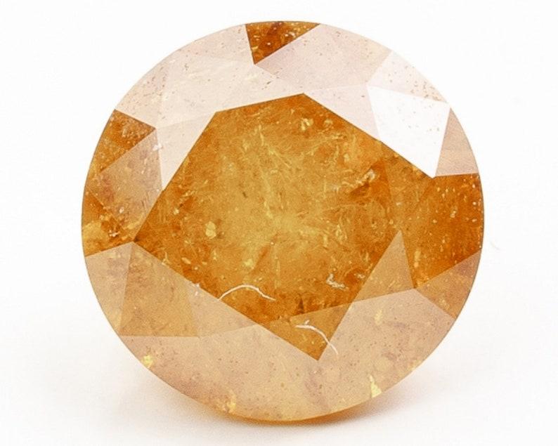 Brilliant Cut Fancy Deep Yellow Diamond  5.90 x 5.89 x 3.79 image 0