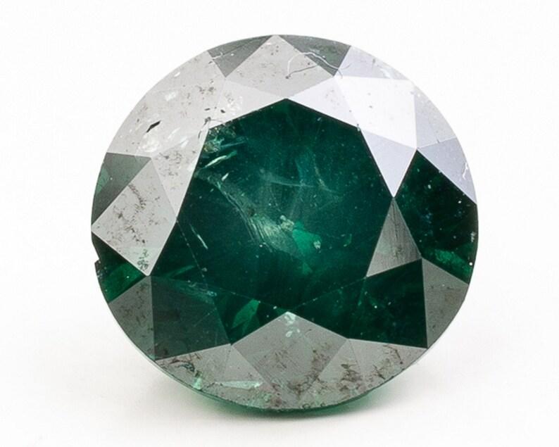 Brilliant Cut Slightly Bluish Green Diamond  5.11 x 5.10 x image 0
