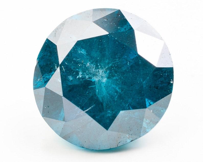 Brilliant Cut Medium to Dark Blue Diamond  5.54 x 5.48 x 3.53 image 0