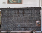 Victorian Damchiya dowry chest, India steam trunk 1800s Not free postage Pick up item only