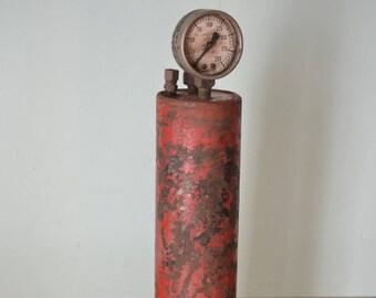 Antique metal air compressor pump Hughes