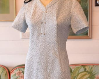 d831fddbdd5 Vintage 1950 s 1960 s blue dress Size 8 to 10 AUS size 6 to 8 US No 548