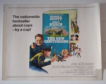 Vintage half sheet Movie Poster The New Centurions 1972 72/218 Limited Editiion