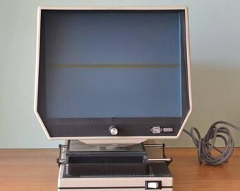Vintage Eyecom 1000 Microfilm Viewer scan newspaper library