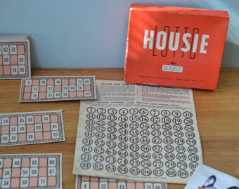 Vintage Housie Lotto Johns and Sands PTY vintage game LBT2