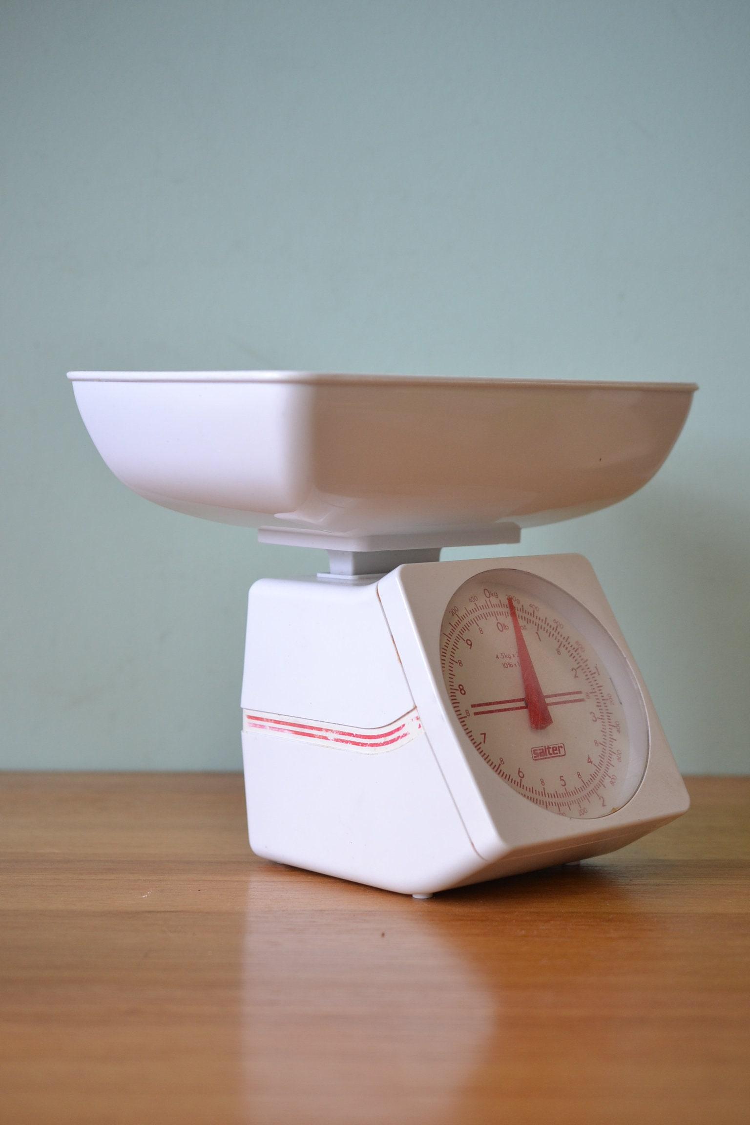 Retro white salter kitchen scales AGT3 | Etsy