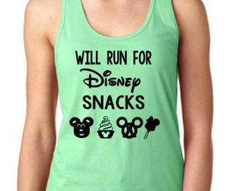 Disney Shirts // I Will Run For Disney Snacks Shirt // Disneyland // Run Disney // Disney shirts for women
