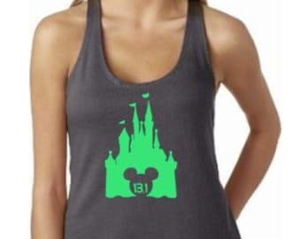 Disney Shirts // 13.1 Disney Castle Shirt // Disneyland // Run Disney Shirt // Princess Run // Half Marathon // Disney shirt for women