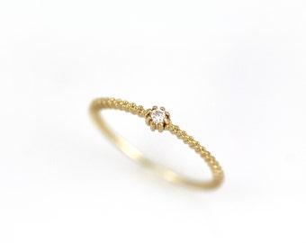 Dunnen Sie Goldenen Ring Schlichter Goldring Gold Ring Etsy