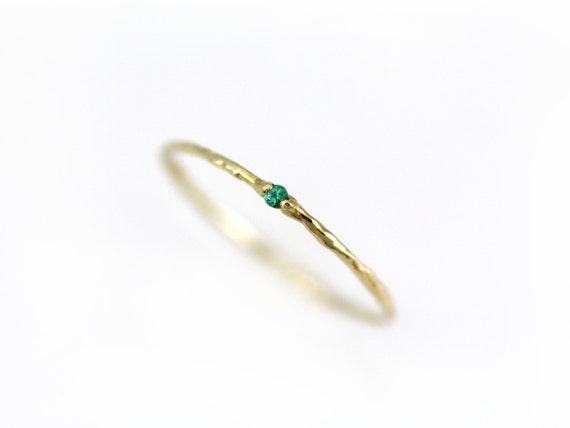 Atemberaubend Einfache Smaragd Ring dünne Smaragd Ring Smaragd Ring Gold | Etsy &LZ_23