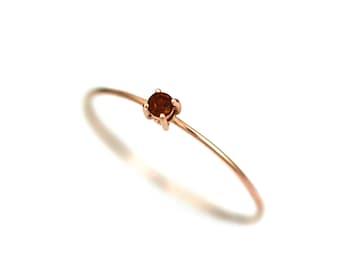 Garnet Ring Gold, Garnet Ring, Natural Garnet Ring, Simple Garnet Ring, Gold Ring Garnet, Birthstone Ring, 14k Solid Gold, Mothers Rings