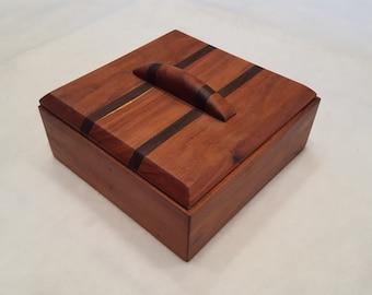 Wood Box, Granadillo and Black Walnut
