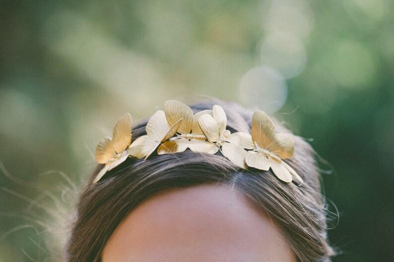 Gold Butterfly Headband Fairy Hair Accessories Hairpiece Hair image 0