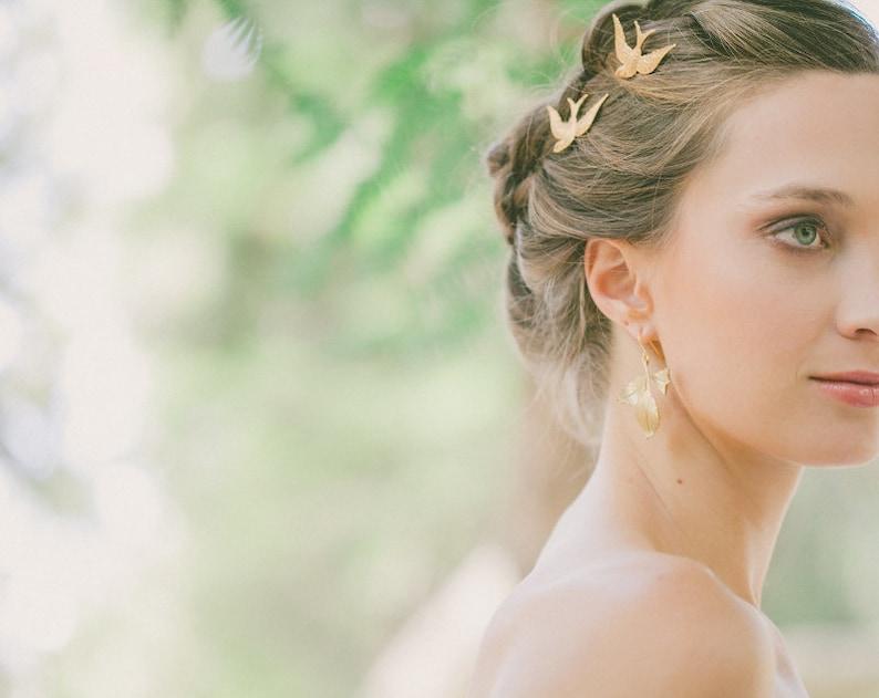 Wedding Hair Accessories Ideas for Boho Chic Brides, Gold Bohemian Wedding Bobby Pins