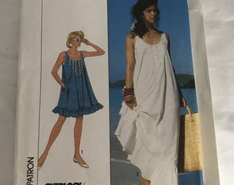 0202 McCalls 8681 Women's Dress and Nightgown pattern