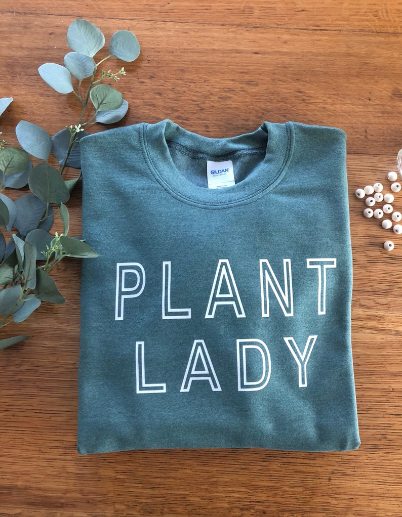 Green Plant Lady Sweatshirt image 0