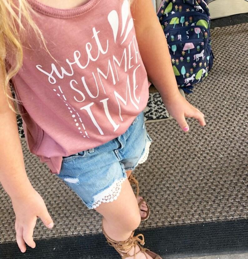 Sweet summer time girl tank