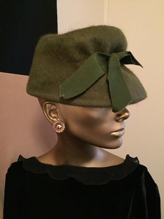 Vintage 1950s Mohair Hat