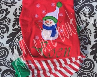 snow man christmas pjs