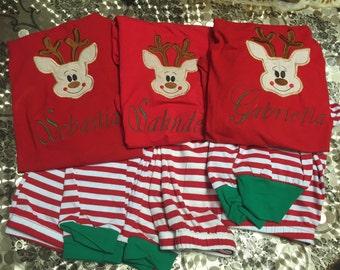 Reindeer christmas pjs