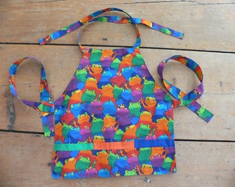 Colorful Frog Apron