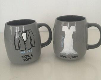 personalized wedding mugs