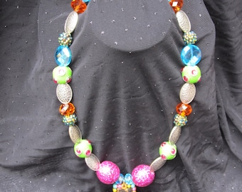 Bold & Blingy Colorful Cross Necklace