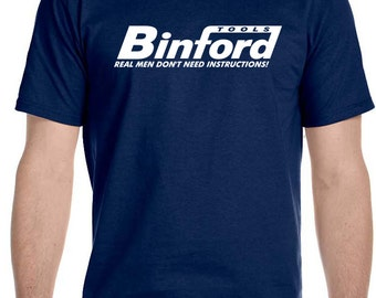 Binford Tools T Shirt Funny Home Improvement Tool Time Hammer Tee Tim Taylor TV