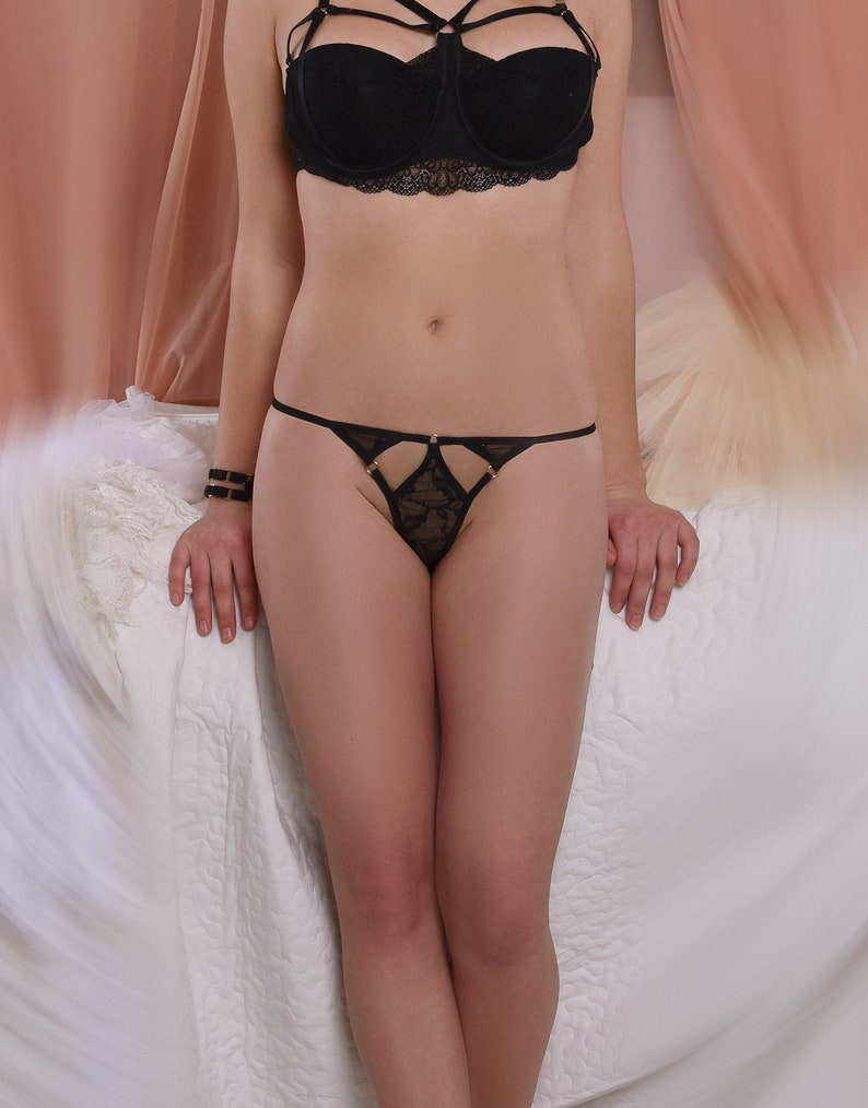 Sheer Lace Panties Micro Thong sissy clothing image 0
