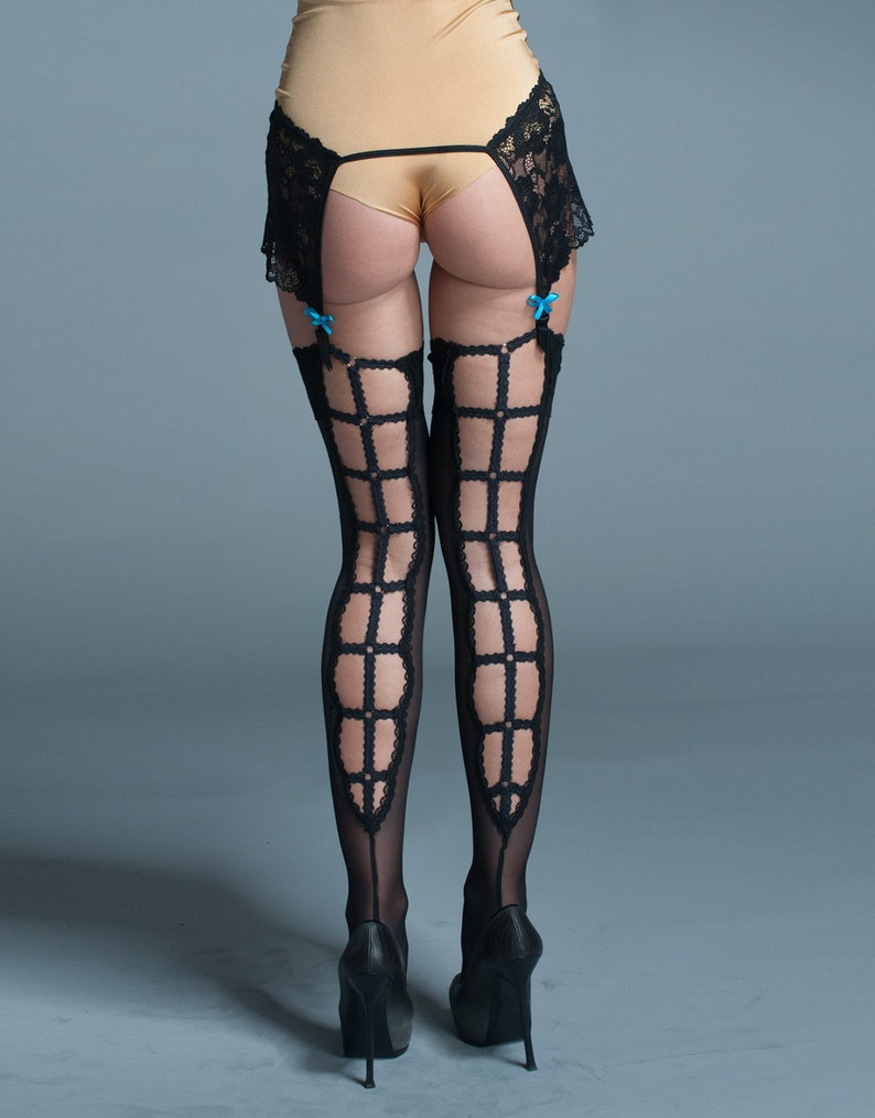 Thigh High Lingerie Stockings Seamed Stockings