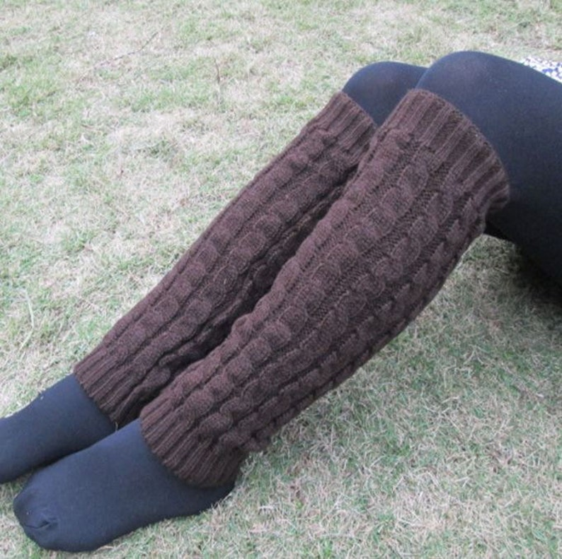 Dark Brown Boot Cuff Boot Sock Leg Warmer  Stocking Stuffer image 0
