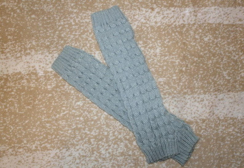 Light Gray Boot Cuff Boot Sock Leg Warmer  Legging  image 0