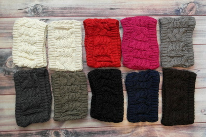 ALL COLORS SHOWN  Knitted Head Band Ear Warmer Ear Muff image 0