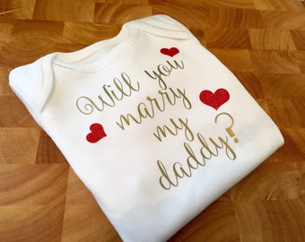 Marriage proposal idea - all in one / bodysuit / baby vest
