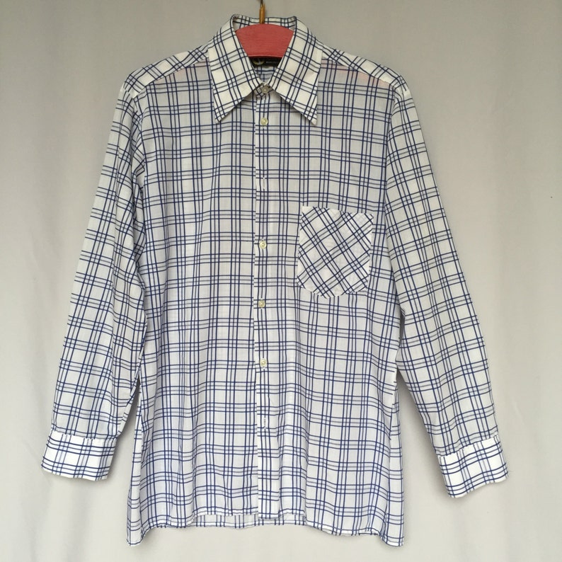 f7df34a3449d 70 s blue LABOD made in Slovenia Checkered navy man
