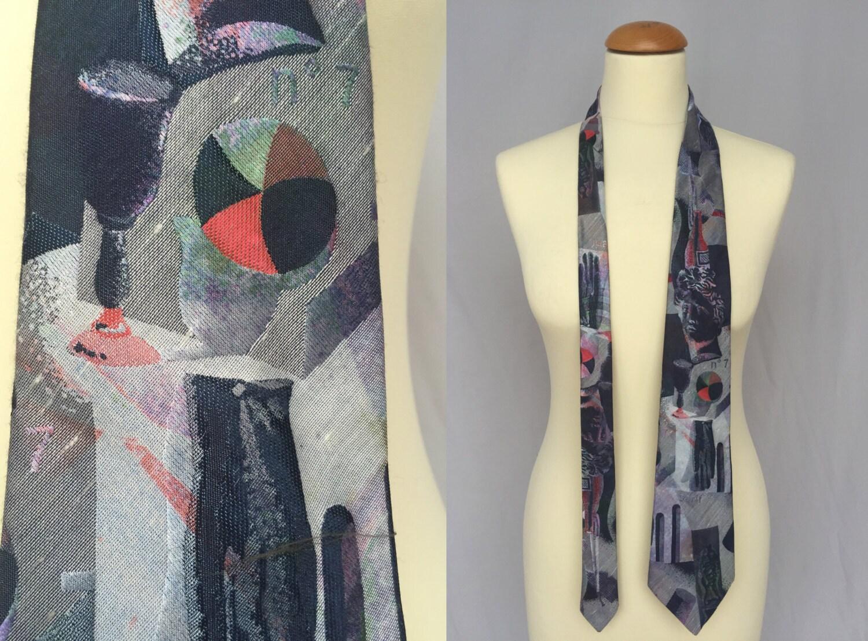 80er Jahre wild Seide Hals Krawatte Retro-Hipster Streetstyle