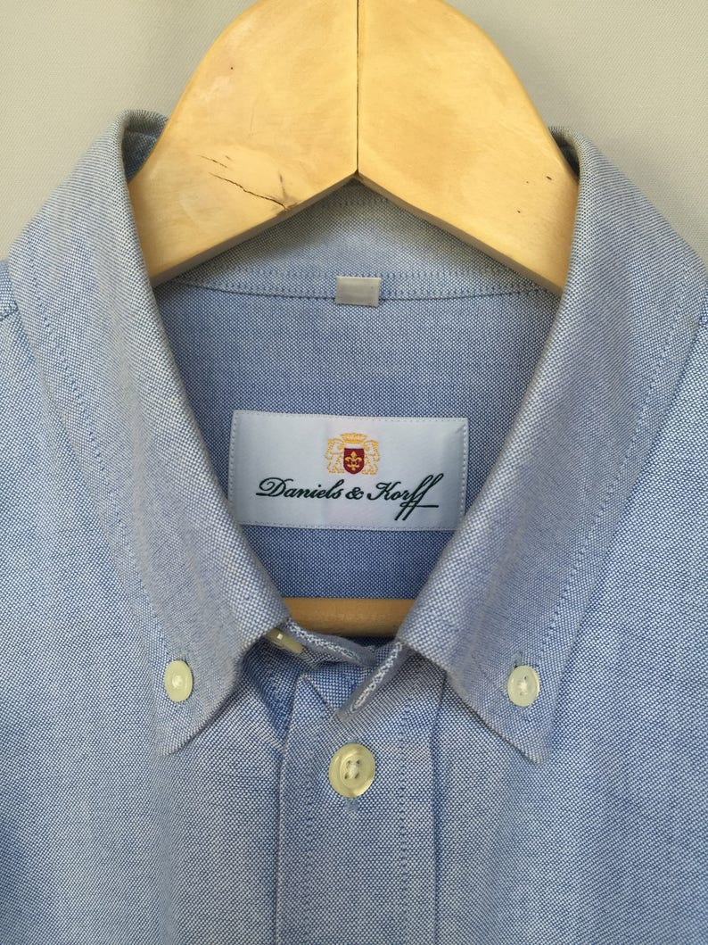bc1204fd495f Blue mans suit Daniels   Corff cotton shirt Button up Vintage