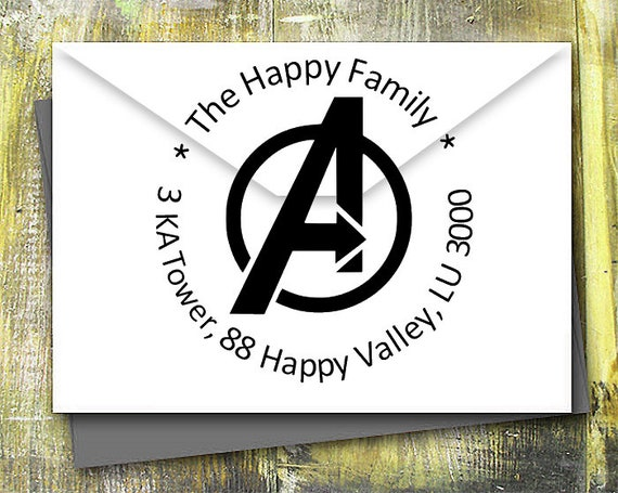 ARC REACTOR Superhero Iron Man Inspired personalized rubber stamp  Wood-Mounted or Self-Inking  return address  Wedding invitation