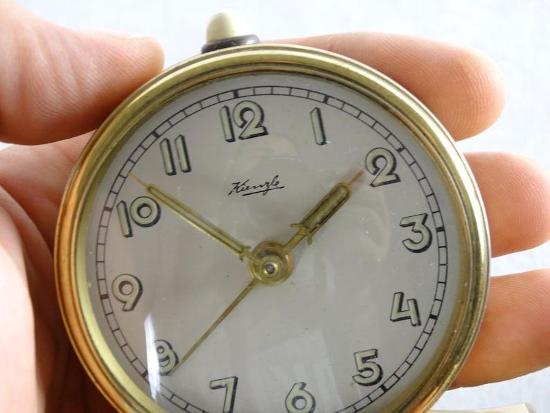 Antique Kienzle Clock, Alarm Clock, German Clock, Desk Clock, Old Clock,  Metal Clock, Table Clock, Mechanical Clock, Shelf Clock, Kienzle