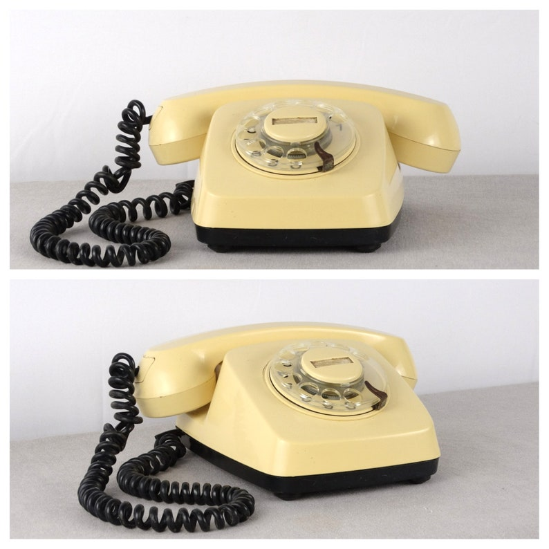 Old Telephone, Rotary Phone, Beige Phone, Landline Phone, Bakelite  Telephone, Desk Telephone, Bell Telephone, Cream Telephone, Retro Phone