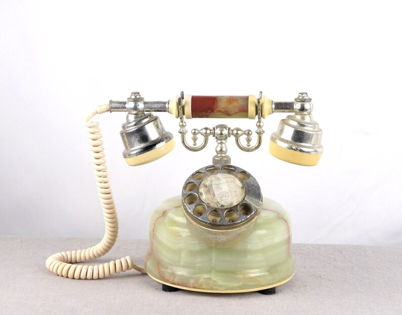 Rotary Phone, Marble Phone, Old Telephone, Desk Phone, Onyx Phone, Landline  Phone, Rotary Telephone, Office Telephone, Dial Phone, Phone